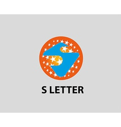 Letter S icon Set of alphabet symbols and element vector image