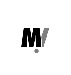 Mi m i black white grey alphabet letter logo icon vector