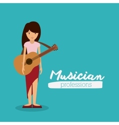 musician woman design vector image
