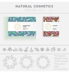 Natural cosmetics design kit vector image vector image