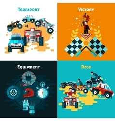 Offroad concept icons set vector