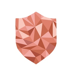 Polygonal guard icon with geometrical figures vector