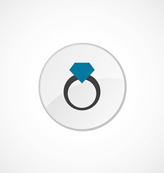 Ring icon 2 colored vector