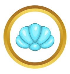 Scallop seashell icon vector