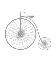 silhouette of vintage bicycle in grey design vector image