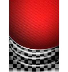 Silk tissue in checkered on a red background vector image vector image
