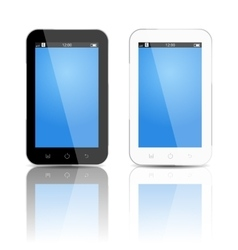 Smartphones mockup black and white vector image vector image