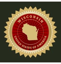 Star label wisconsin vector