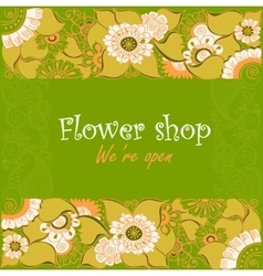 Vintage signage for flower shop vector