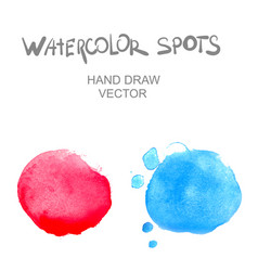 watercolor spots vector image