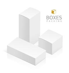 white 3D rectangles vector image