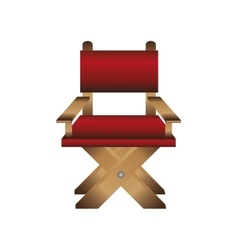 Director chair icon vector