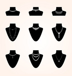 collection of jewerly icons vector image