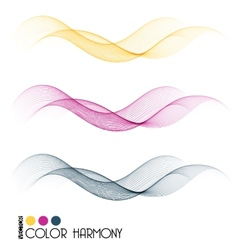 Set of color curve lines vector
