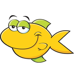 Cartoon smiling fish vector