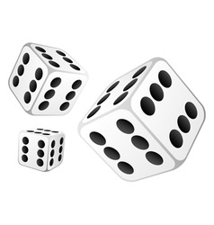 Dice with six dots vector