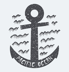 Anchor pacific ocean vector