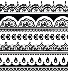 Indian seamless pattern design elements - mehndi vector