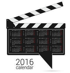 Calendar 2016 on a speech bubble vector