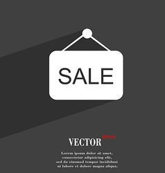 Sale symbol flat modern web design with long vector