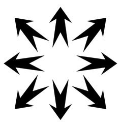 Expand Arrows Flat Icon vector image