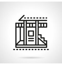 Vacation house black line icon vector