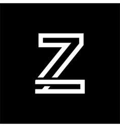Capital letter z from the white interwoven strips vector