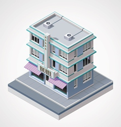 isometric hotel vector image