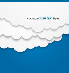 abstract background composed of white paper clouds vector image