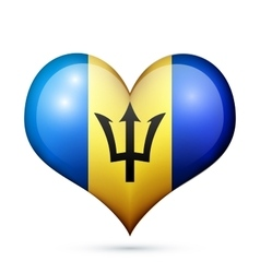 Barbados heart flag icon vector