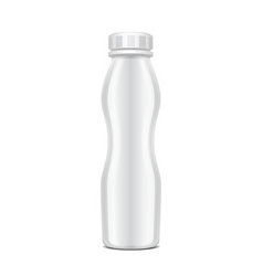 blank plastic bottle with screw cap for dairy vector image vector image