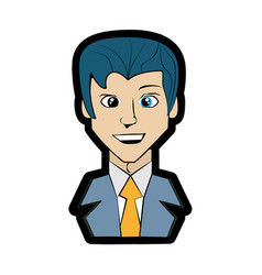 Cartoon man comic imagen vector