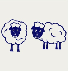 Cartoon sheep vector image vector image