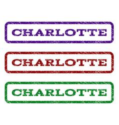 Charlotte watermark stamp vector