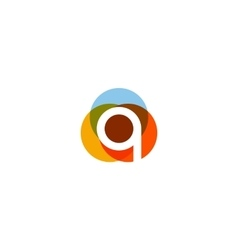 Color letter q logo icon design vector image