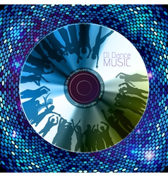 Disco abstract background Record or disk vector image vector image