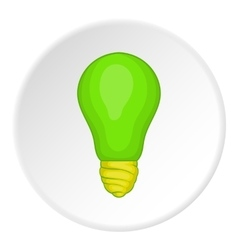 Eco light bulb icon cartoon style vector image