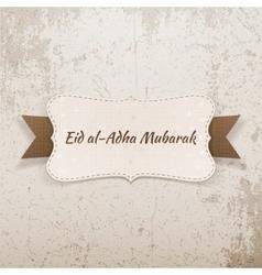 Eid al-adha mubarak realistic emblem vector