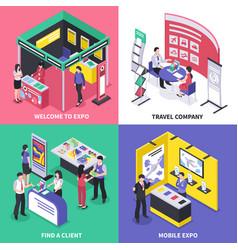 Expo stand design concept vector