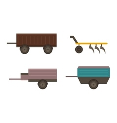 Farm plow vector image