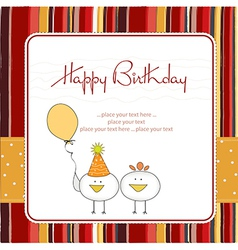 funny birthday party greeting card vector image vector image