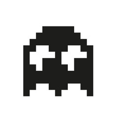 Ghosts monster racing arcade retro game icon vector