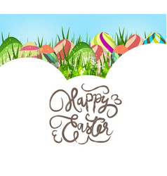 happy easter eggs colorful background vector image vector image