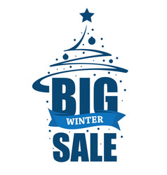 inscription big winter sale vector image