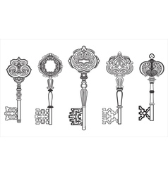 Keys antique collection set 1 vector