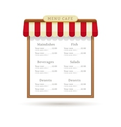 Menu cafe design vector image