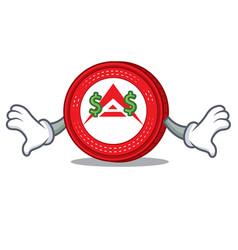 Money eye ark coin mascot cartoon vector