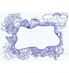 nature doodles vector image vector image