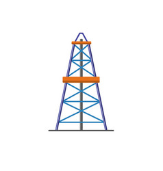 oil derrick icon in flat style vector image vector image