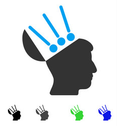 Open mind interface flat icon vector